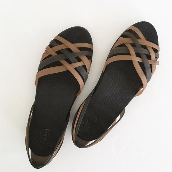 2c467fe1d8a71 CROCS Shoes - Crocs Huarache Flat Bronze Espresso Sandals